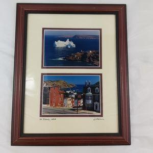 W. Harnum New Foundland signed framed photos
